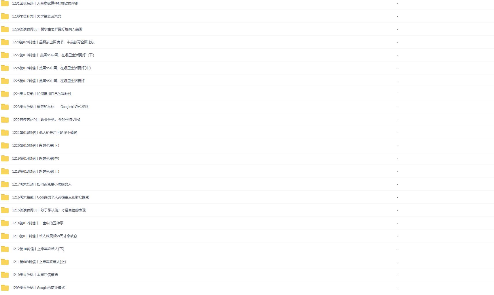 吴军硅谷来信谷歌方法论完整版音频百度云网盘下载(完结)