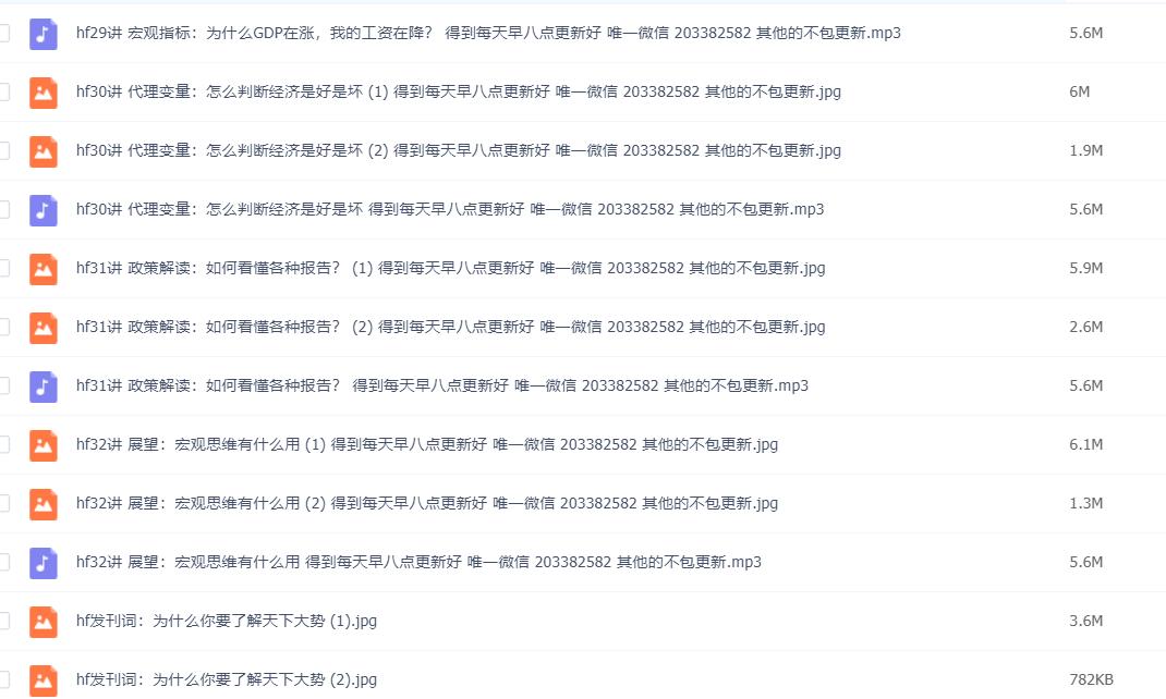 何帆宏观经济学30讲音频下载百度云(完结)