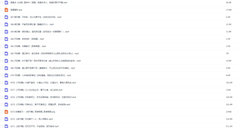 樊登讲论语视频音频百度网盘下载287集(完结)